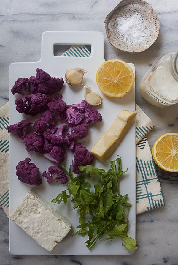 Roasted Cauliflower Feta and Lemon Pasta recipe