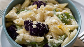 Roasted Cauliflower Lemon Feta Pasta recipe