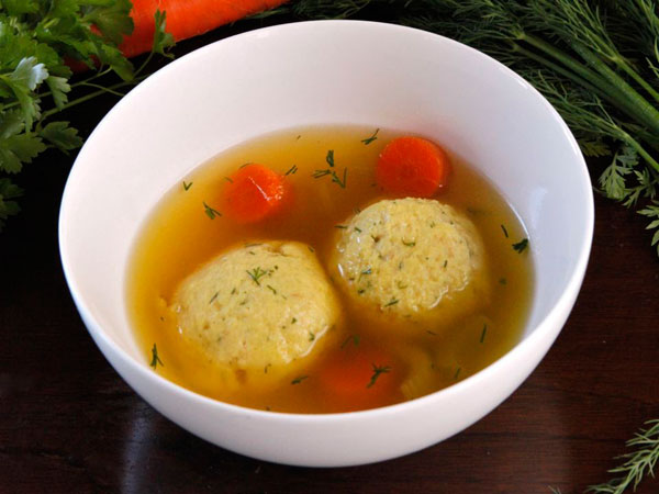 Vegetarian Saffron Matzo Ball Soup recipe