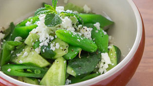Cucumber Snap Pea Salad recipe