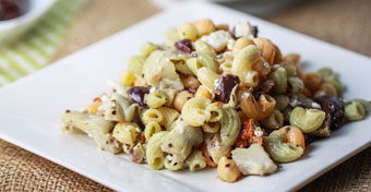 Greek Chickpea Pasta Salad recipe