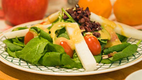 Jicama and Spinach Salad recipe