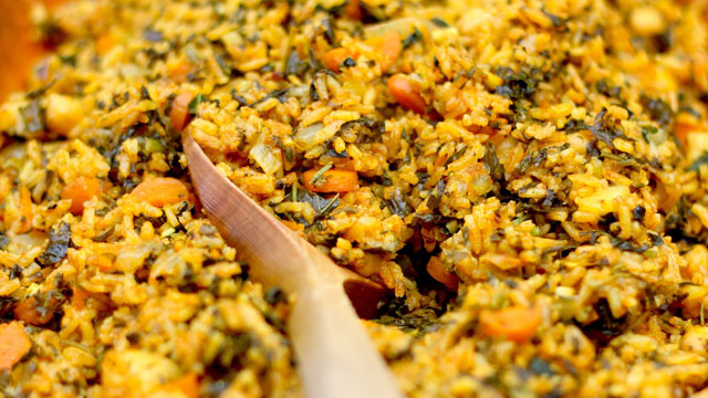 Tunisian Spinach Rice Recipe (Riz Djerben) | PBS Food