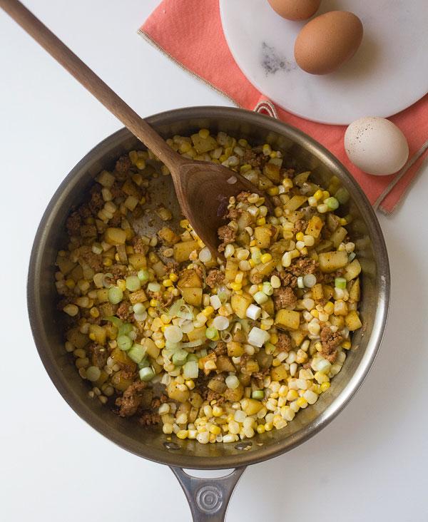 Corn and Chorizo Hash