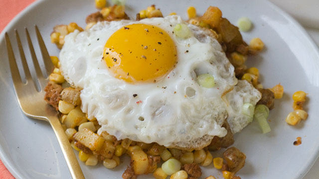 Corn and Chorizo Hash recipe
