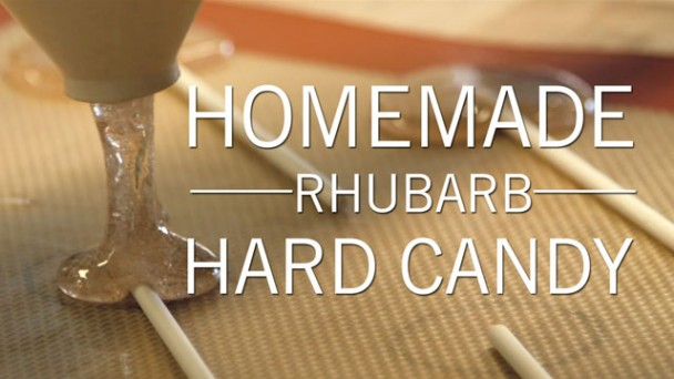 Homemade Rhubarb Hard Candy recipe