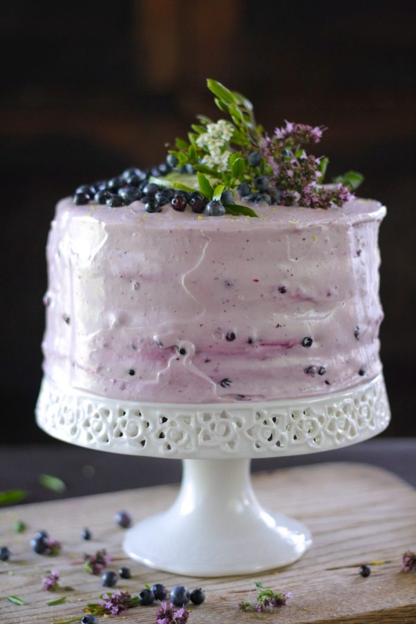 Blueberry Lime Layer Cake recipe