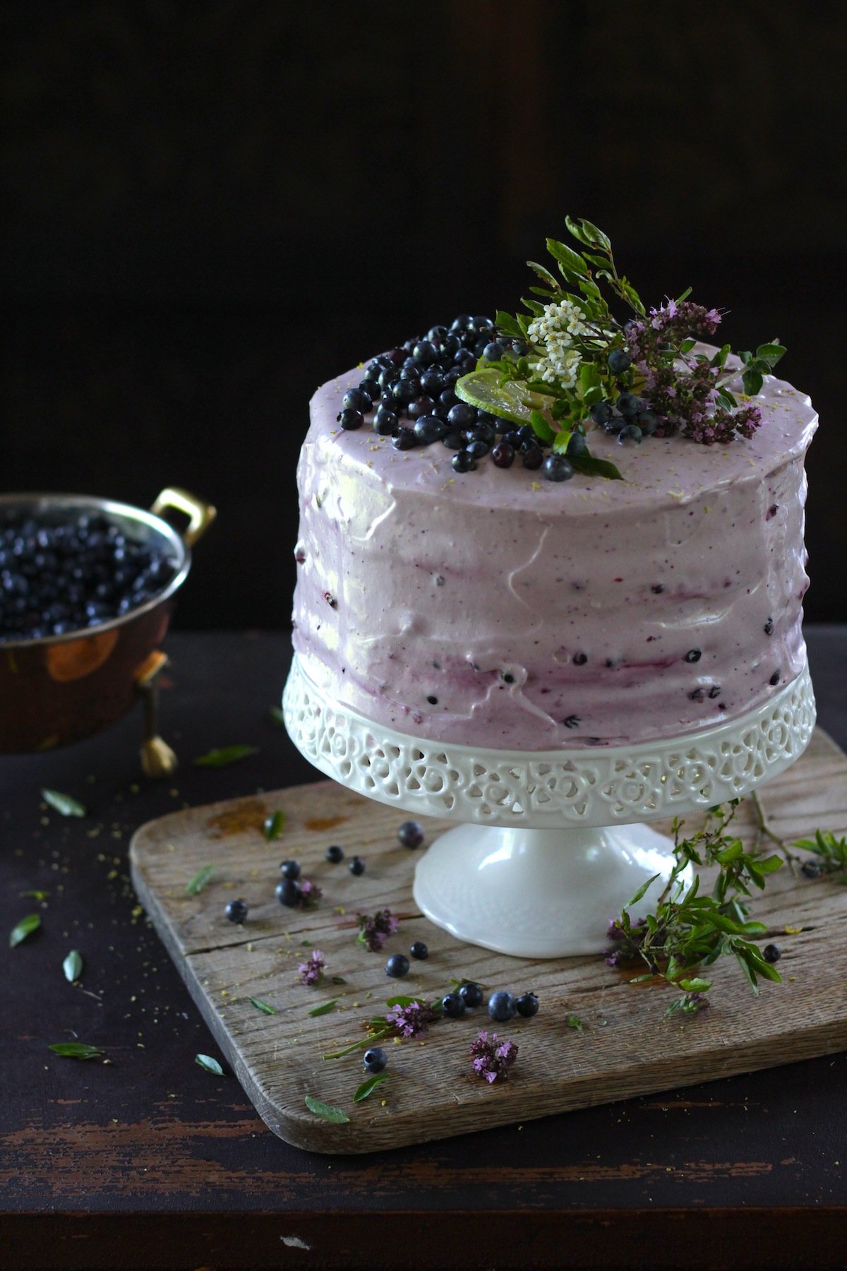 Blueberry Lime Layer Cake Recipe Dessert Recipes Pbs Food