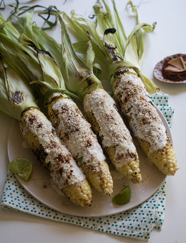 Elote recipe for Mexican Corn on the Cob