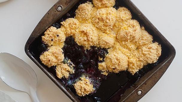 Blueberry Cornbread Cobbler recipe