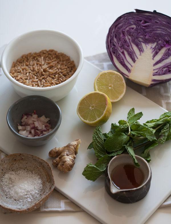 Kamut Cabbage Salad recipe