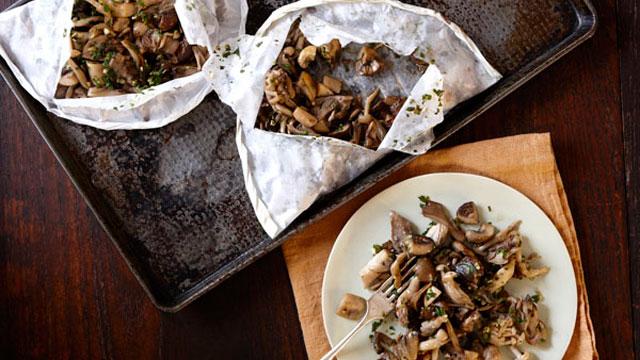Mushrooms in Parchment recipe