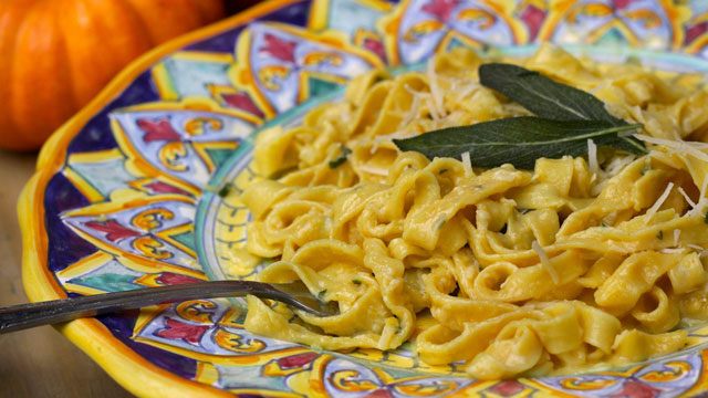 Creamy Pumpkin Sage Fettuccine Recipe Pasta Recipes