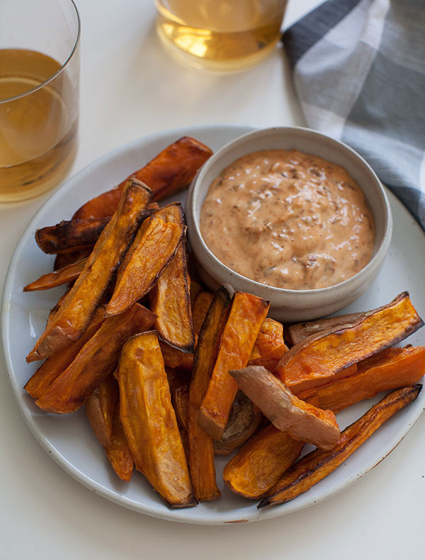 Sweet Potato Fries Recipe With Chipotle Mayo Fresh Tastes Pbs Food