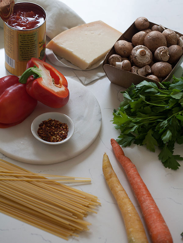 Vegetable Bolognese recipe