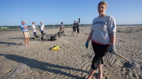 Shannon 'Shan-Digs' Eldridge put herself through college clamming on Cape Cod.