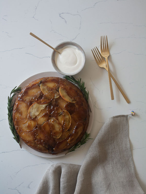 Apple Rosemary Upside Down Cake recipe