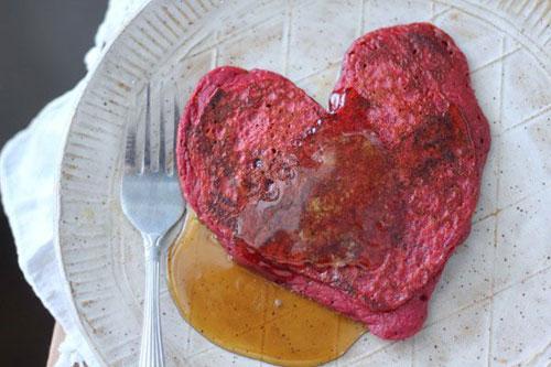 Beet-Colored Red Velvet Pancakes recipe