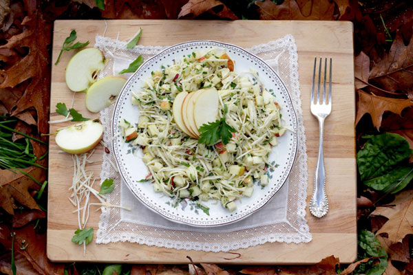 Celeriac Apple Slaw recipe
