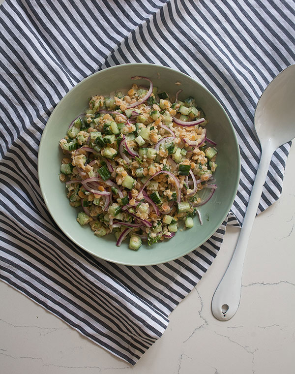 Cucumber Lentil Salad recipe