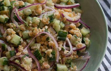 Cucumber Lentil Salad recipe