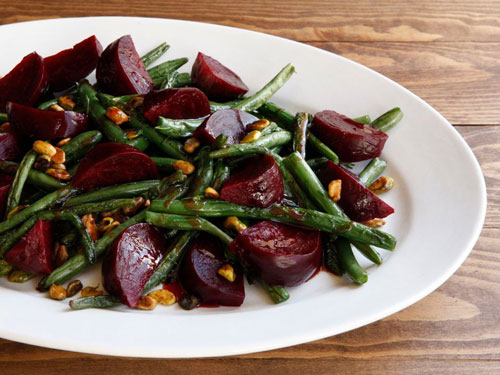 Green Bean Beet and Pistachio Salad recipe