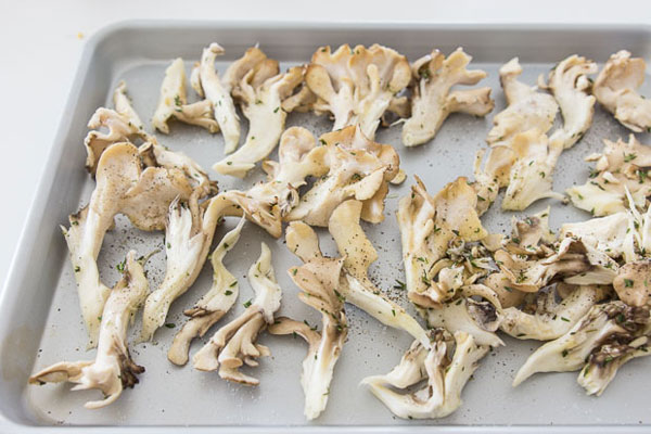 Crispy Roast Hen of the Woods recipe