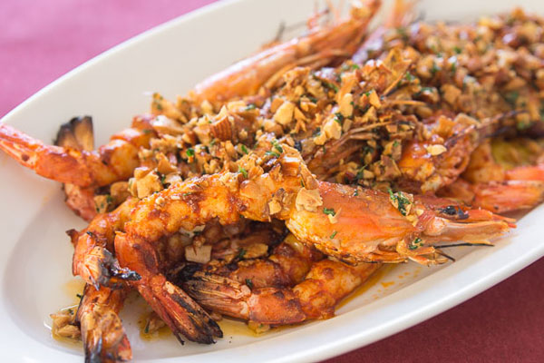 Grilled Almond Shrimp recipe