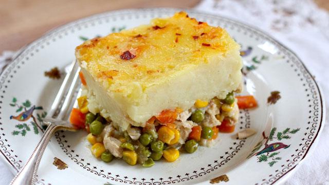 Leftover Turkey Skillet Shepherd's Pie recipe