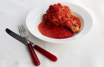 Giant Meatballs with Ricotta