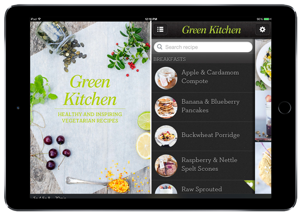 Best food apps of 2014 year in food 2014 pbs food green the green kitchen app contains unique recipes forumfinder Images