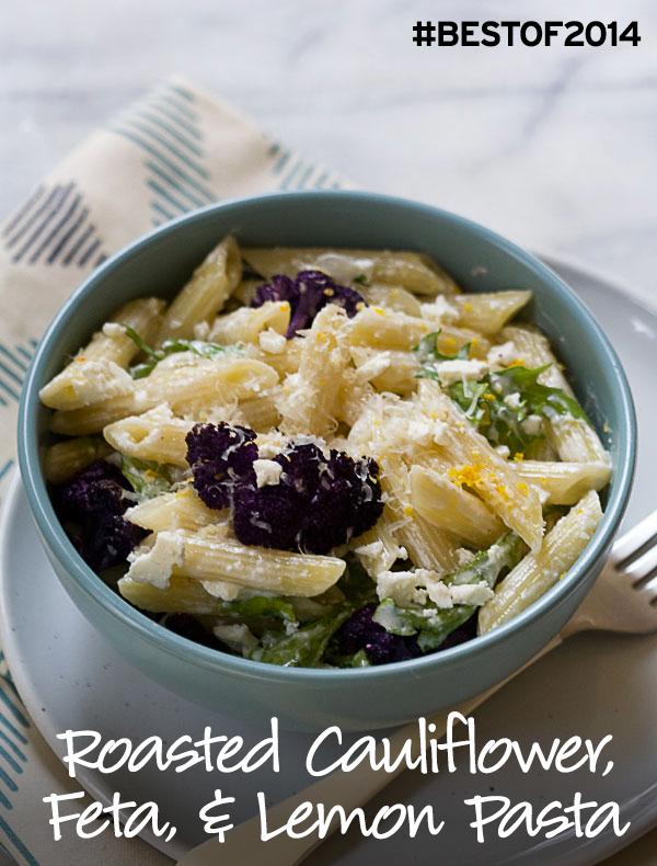 Roasted Cauliflower, Feta, and Lemon Pasta