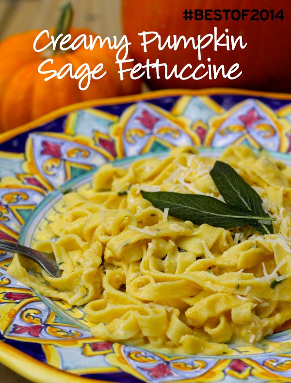 Creamy Pumpkin Sage Fettuccine