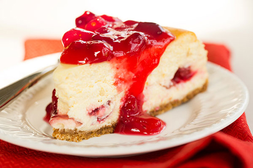 Cranberry Eggnog Cheesecake recipe