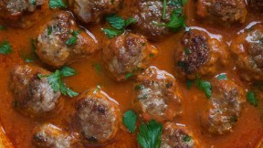 Harissa Lamb Meatballs recipe