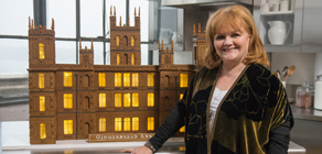 Lesley Nicol with Gingerbread Abbey