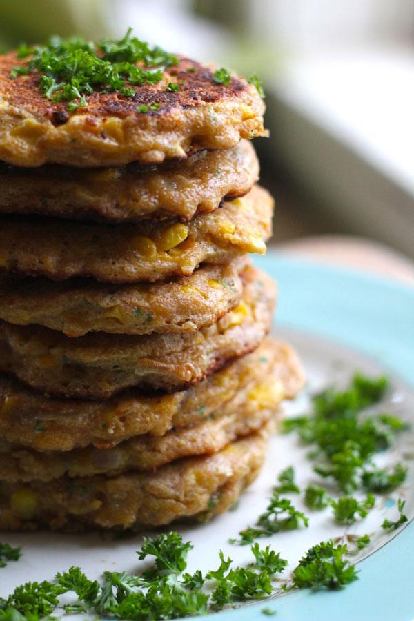Amaranth Corn Fritters recipe
