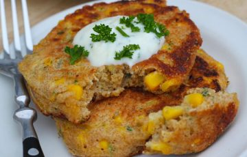 Amaranth Corn Fritters recipe