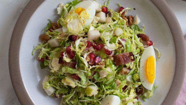 Crunchy Shaved Brussels Sprout Salad recipe