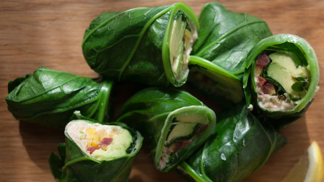 Collard Green Wraps recipe