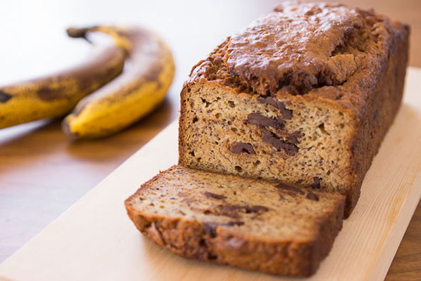 Peanut Butter Chocolate Chunk Banana Bread recipe