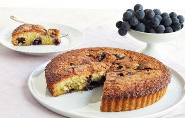 Pistachio Concord Grape Cake recipe