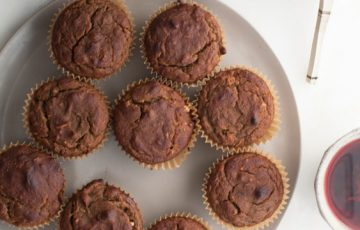 Banana Walnut and Coconut Muffins recipe