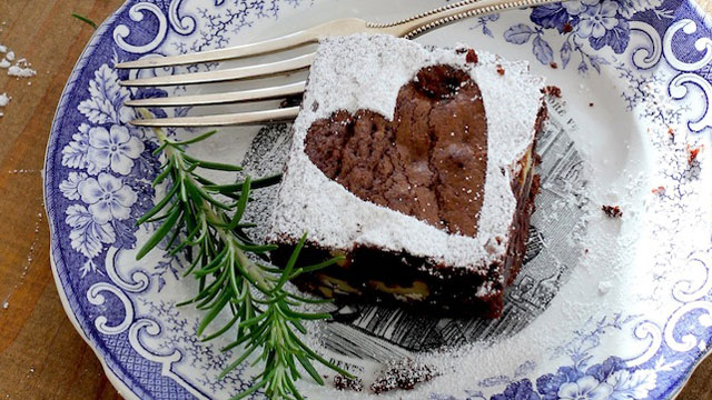 Rosemary Rye Brownies recipe