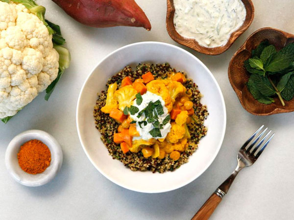 Vegetable Curry Quinoa Bowls