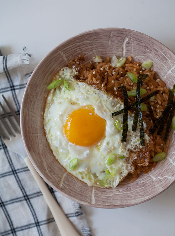 kimchi fried rice this kimchi fried rice recipe features gochujang