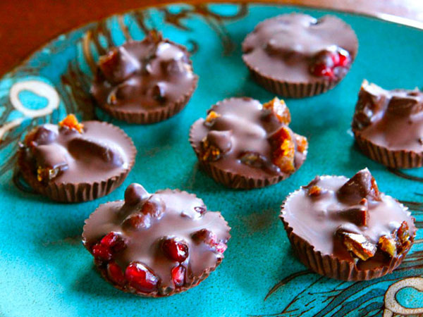 Dark Chocolate Fruit Candies recipe