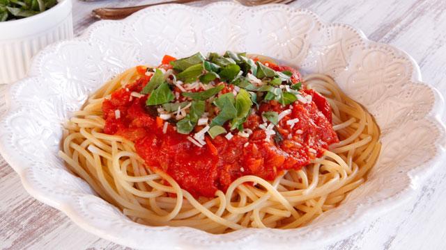 3be50abc981 Audrey Hepburn s Spaghetti al Pomodoro. Recipe courtesy of The History  Kitchen