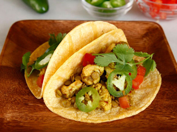 Vegan Lentil Cauliflower Tacos recipe