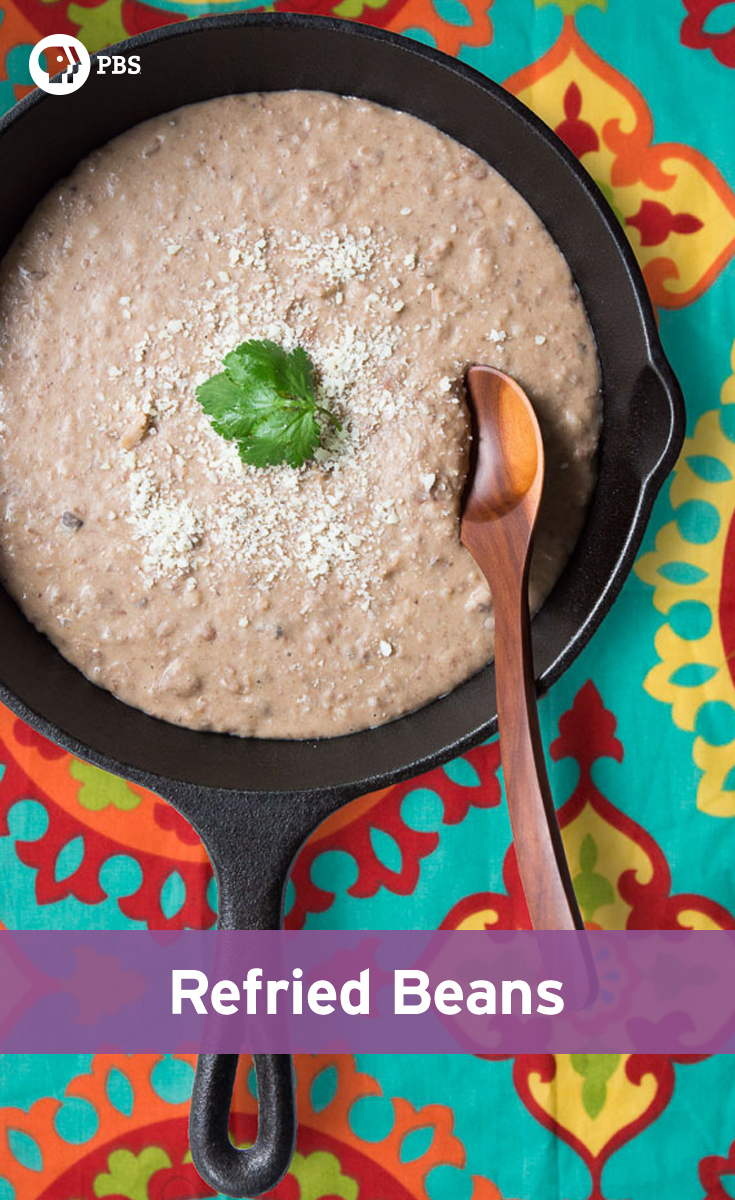 Use any type of bean to make this Refried Beans recipe for a flavorful, yet simple Mexican side dish.